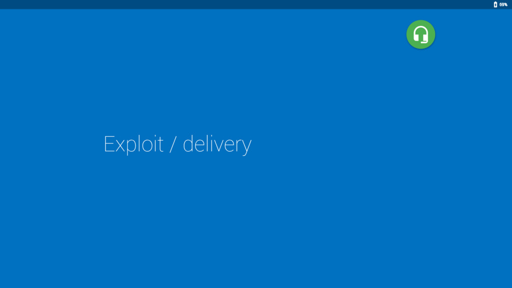 Exploit / delivery 69%
