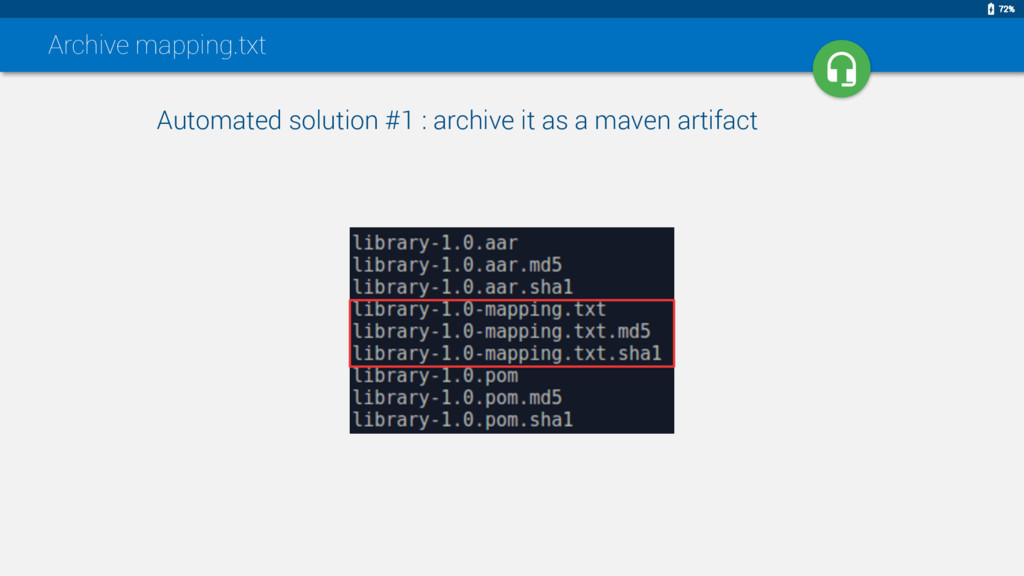 Archive mapping.txt Automated solution #1 : arc...