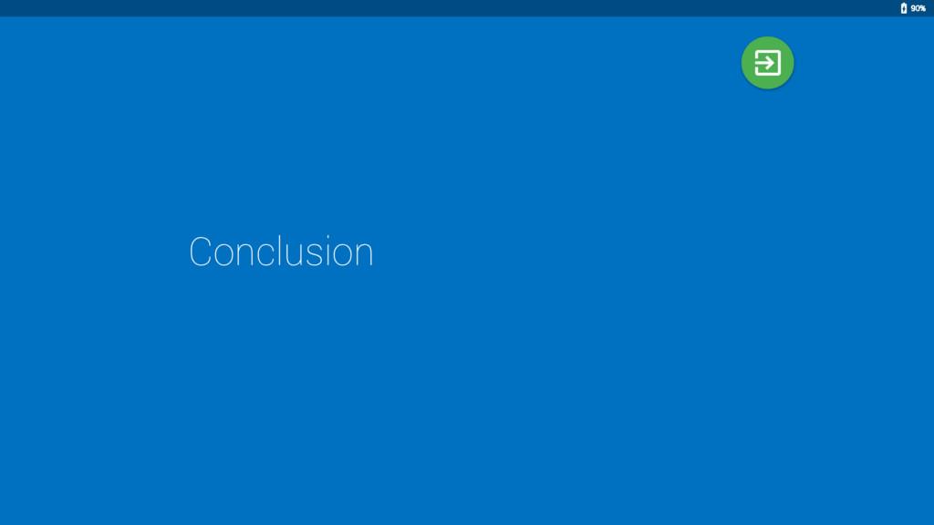 Conclusion 90%