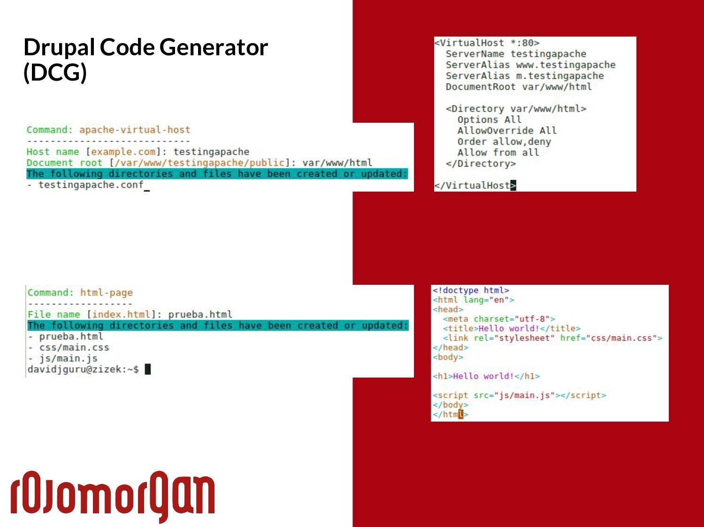 Drupal Code Generator (DCG)