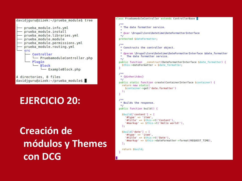 EJERCICIO 20: Creación de módulos y Themes con ...