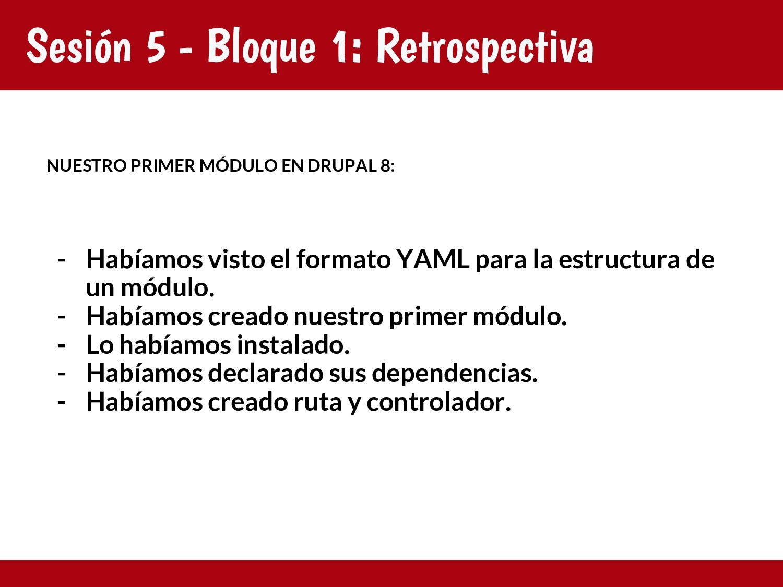 Sesión 5 - Bloque 1: Retrospectiva NUESTRO PRIM...