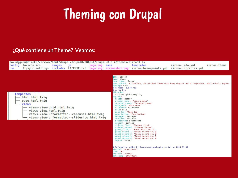 ¿Qué contiene un Theme? Veamos: Theming con Dru...