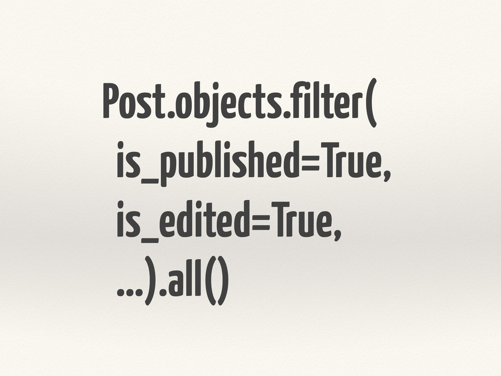 Post.objects.filter( is_published=True, is_edit...