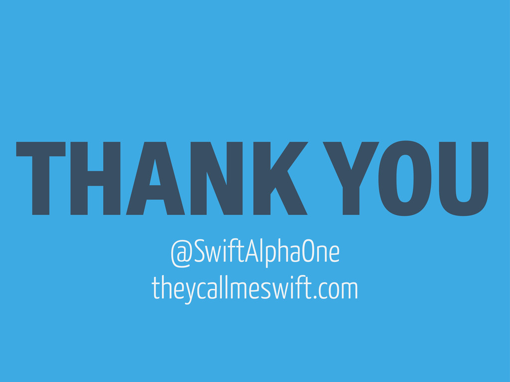 THANK YOU @SwiftAlphaOne theycallmeswift.com