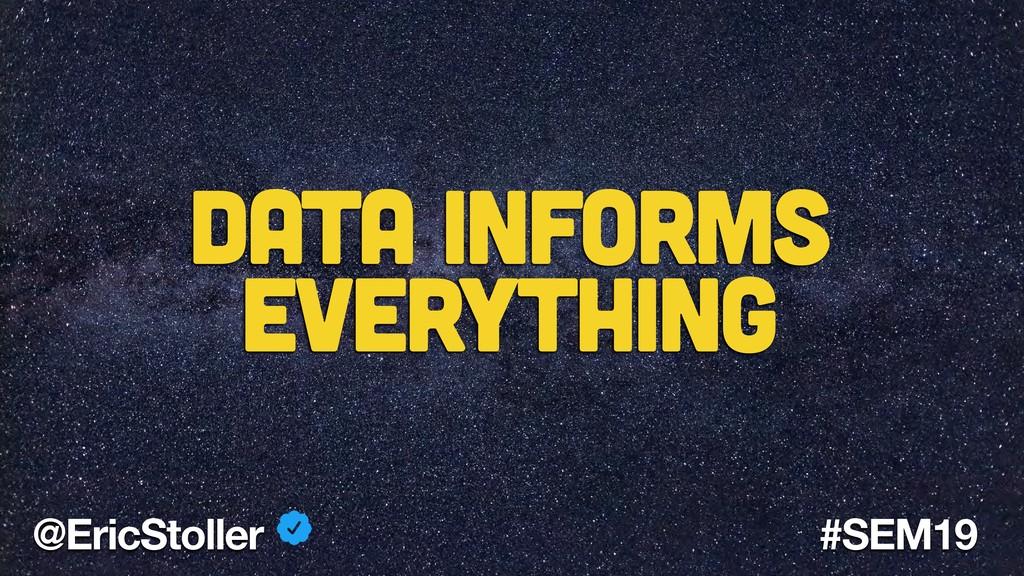 @EricStoller #SEM19 Data informs Everything