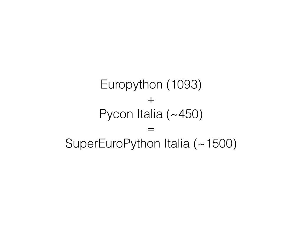 Europython (1093) + Pycon Italia (~450) = Super...