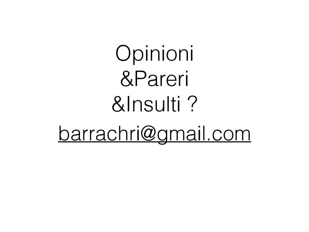 Opinioni &Pareri &Insulti ? barrachri@gmail.com