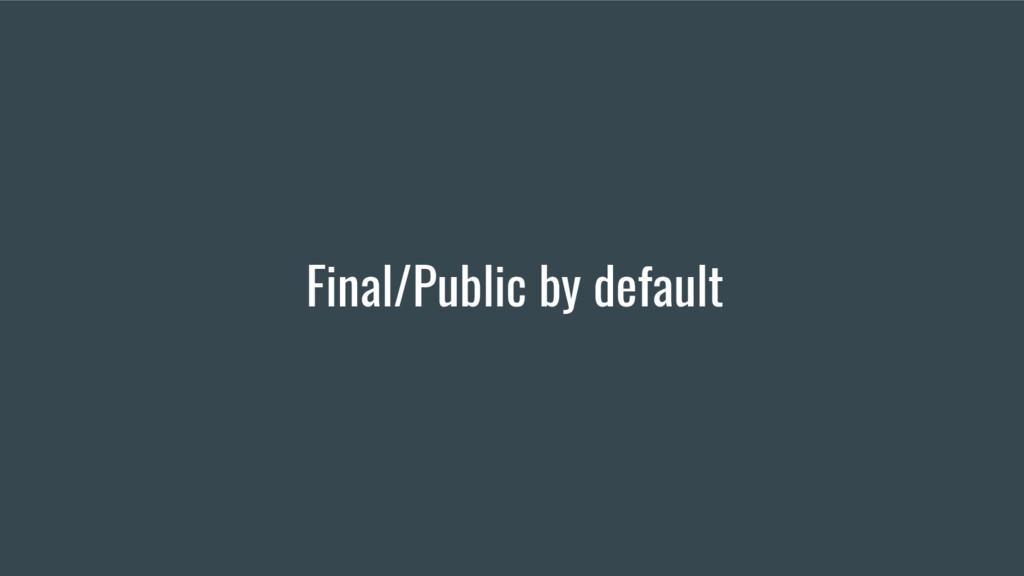 Final/Public by default