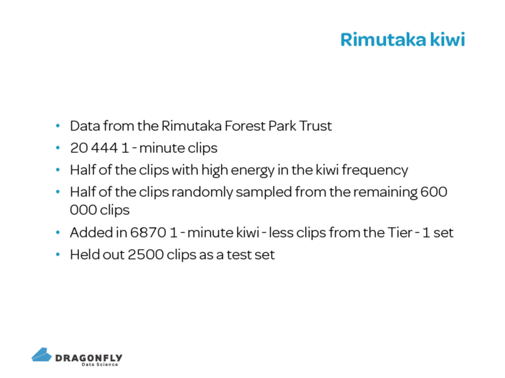 Rimutaka kiwi Data from the Rimutaka Forest Par...