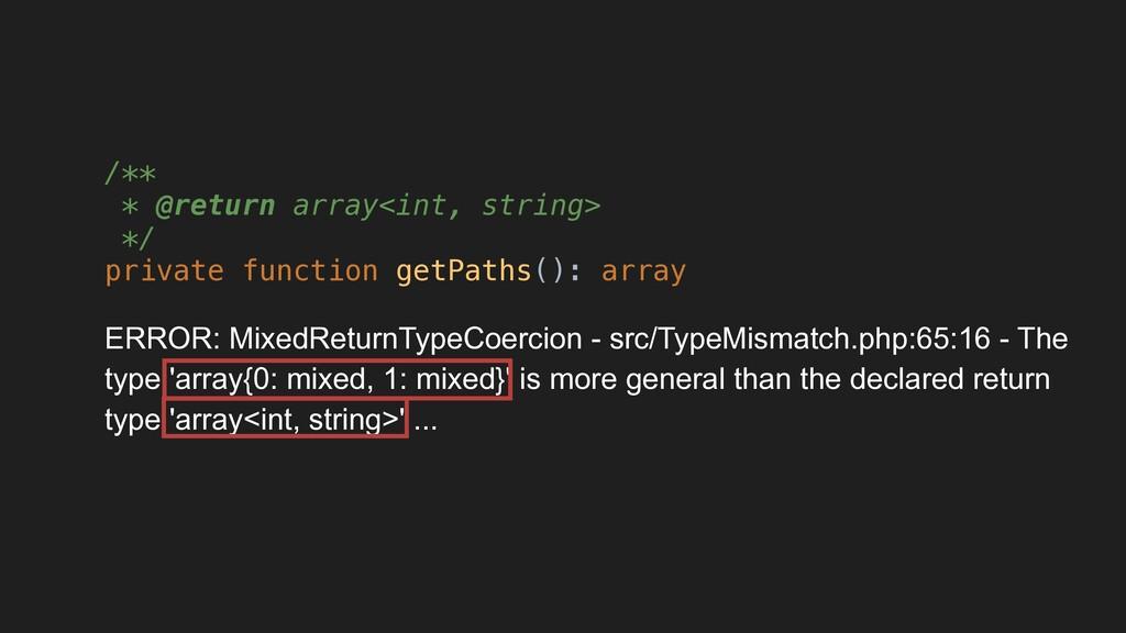 /** * @return array<int, string> */ private fun...