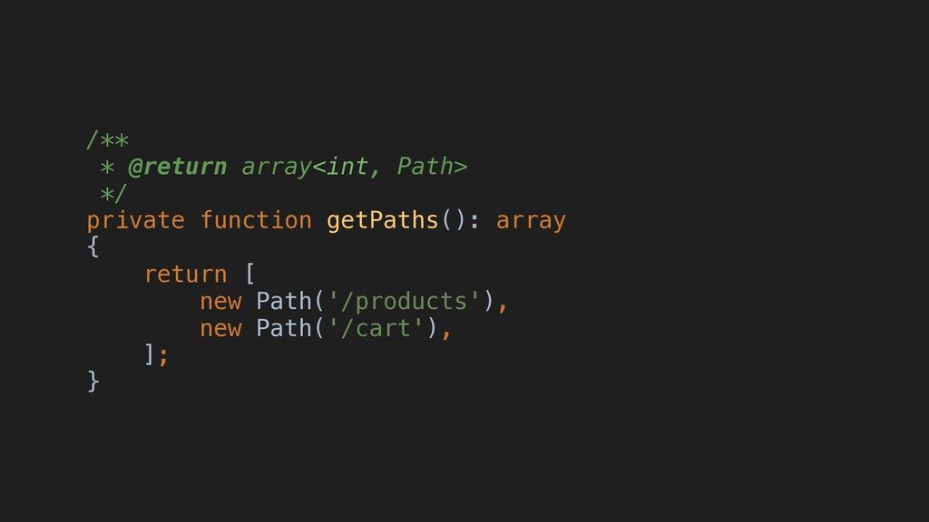 /** * @return array<int, Path> */ private funct...