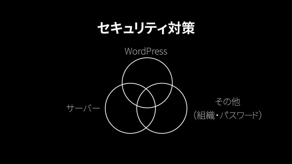 セキュリティ対策 WordPress サーバー その他 (組織・パスワード)