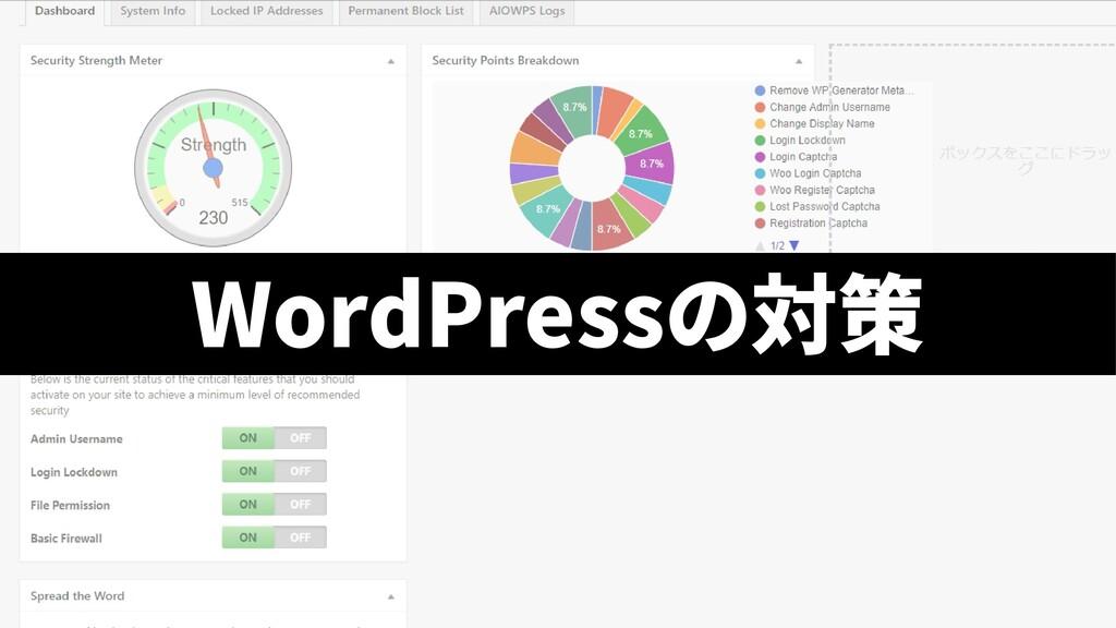 WordPressの対策