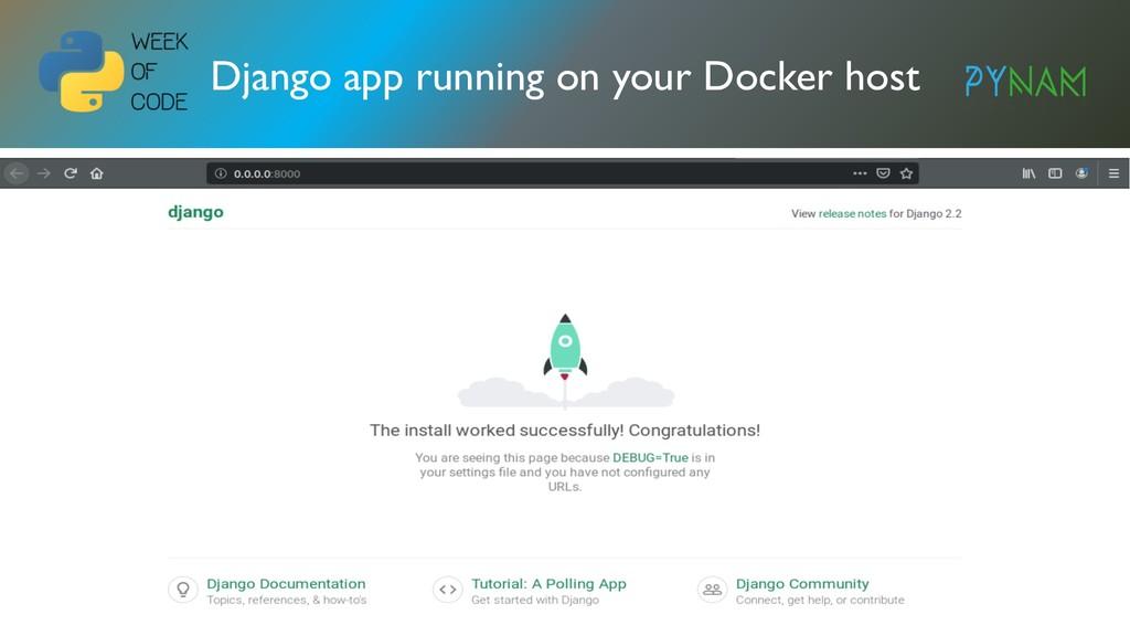 NAMIBIA Django app running on your Docker host