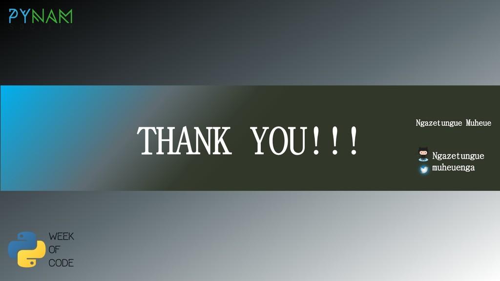 NAMIBIA THANK YOU!!! Ngazetungue Muheue Ngazetu...