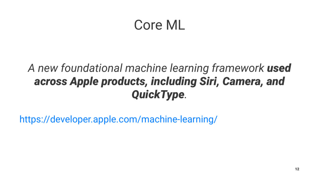 Core ML ɹ A new foundational machine learning f...