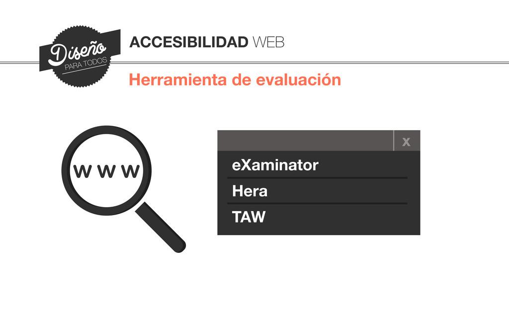 Herramienta de evaluación ACCESIBILIDAD WEB Dis...
