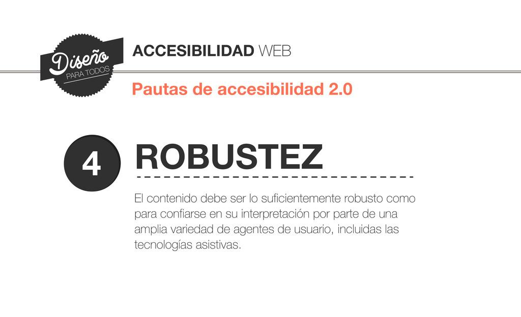 Pautas de accesibilidad 2.0 ACCESIBILIDAD WEB D...