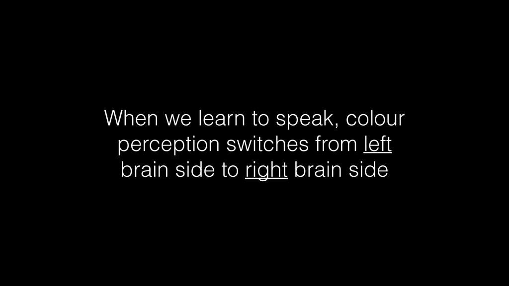 When we learn to speak, colour perception switc...