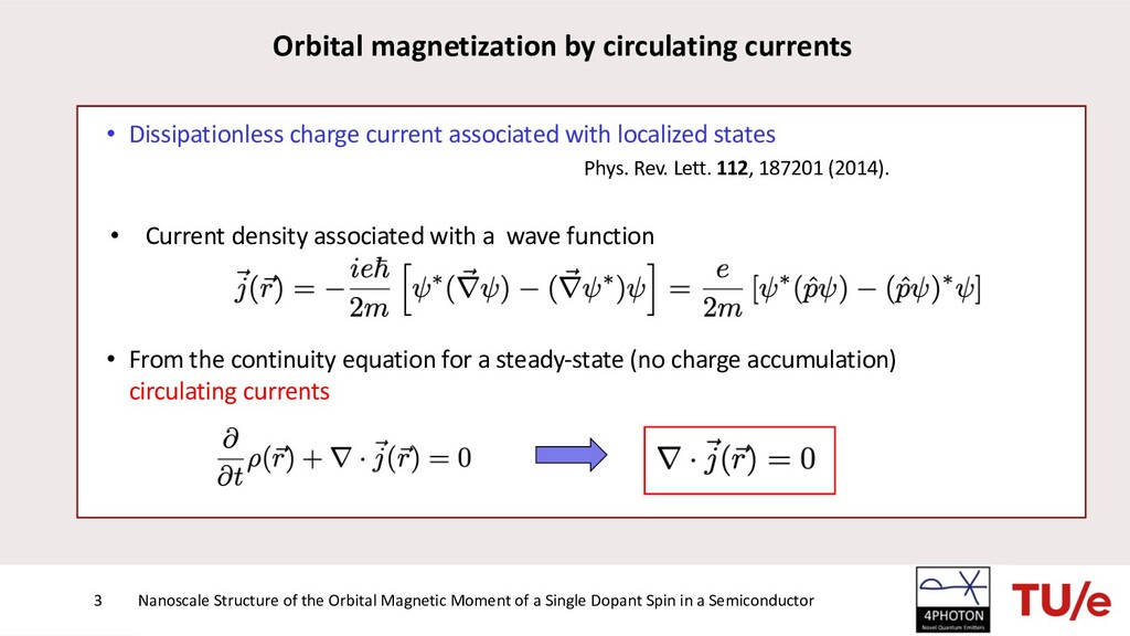 • Dissipationless charge current associated wit...