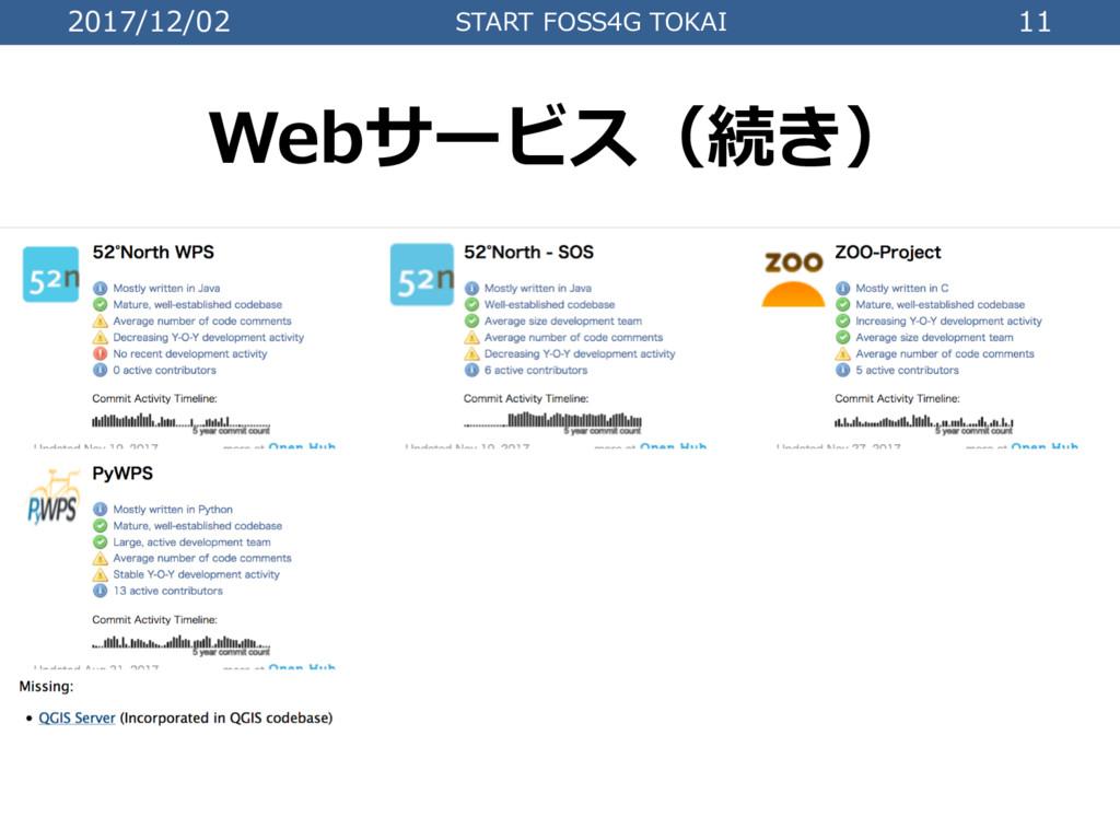 2017/12/02 START FOSS4G TOKAI 11 Webサービス(続き)