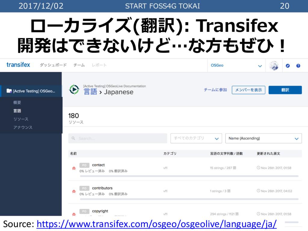 2017/12/02 START FOSS4G TOKAI 20 ローカライズ(翻訳): Tr...
