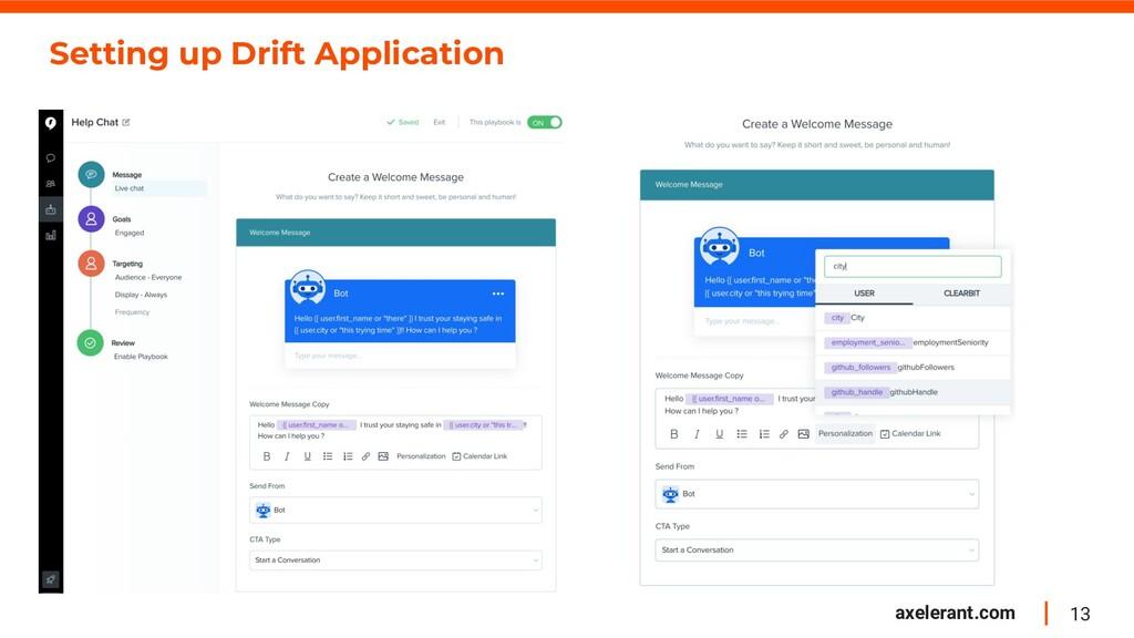 13 axelerant.com Setting up Drift Application