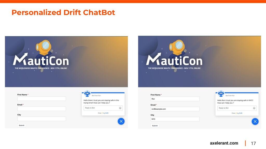 17 axelerant.com Personalized Drift ChatBot