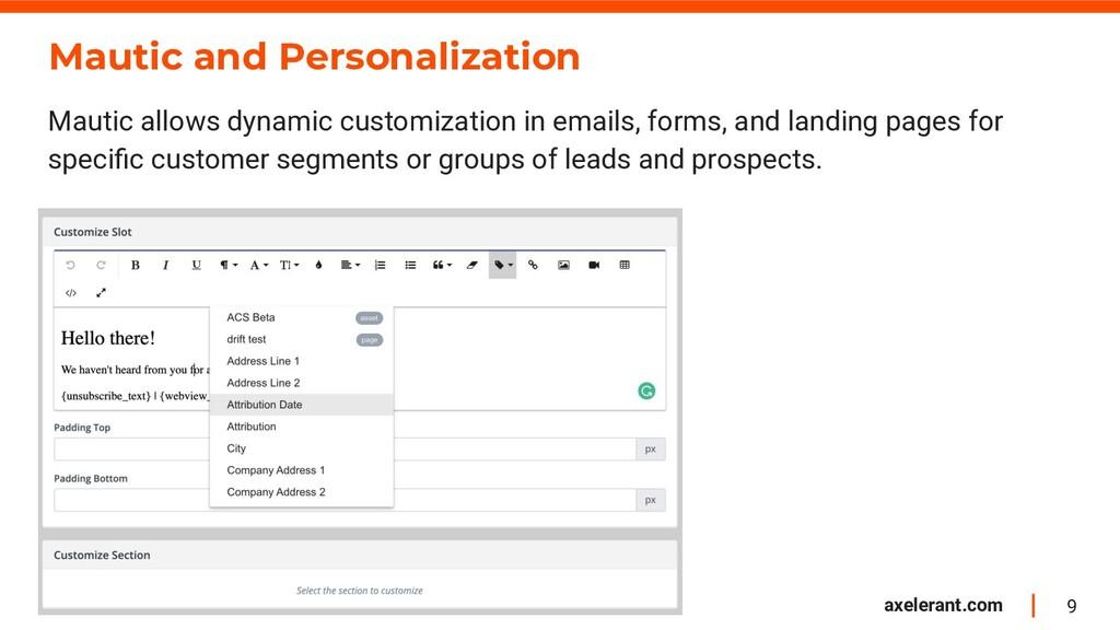 9 axelerant.com Mautic and Personalization Maut...