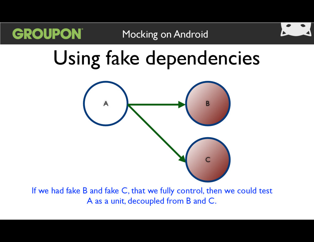 Using fake dependencies Mocking on Android A B ...