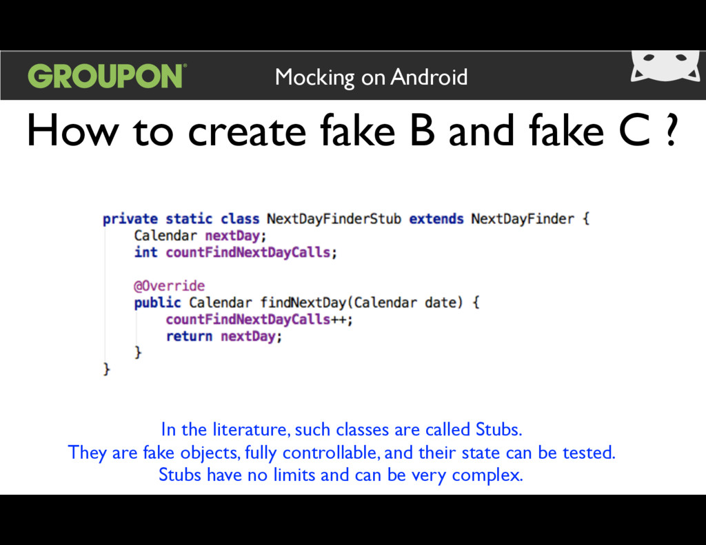 How to create fake B and fake C ? Mocking on An...