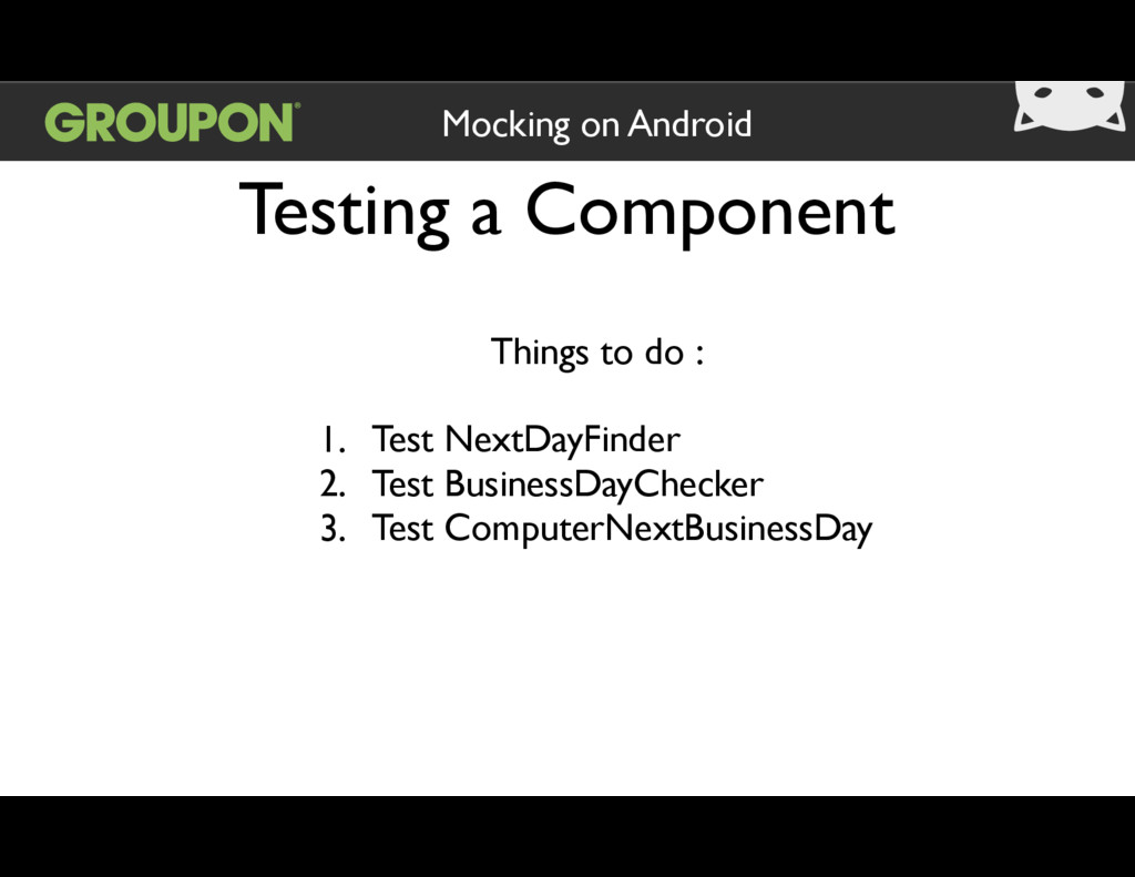 Testing a Component Mocking on Android Things t...