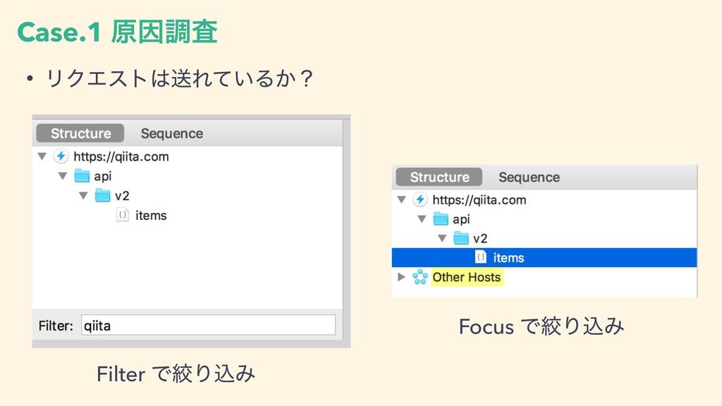 Case.1 ݪҼௐࠪ • ϦΫΤετૹΕ͍ͯΔ͔ʁ Filter ͰߜΓࠐΈ Focus ...