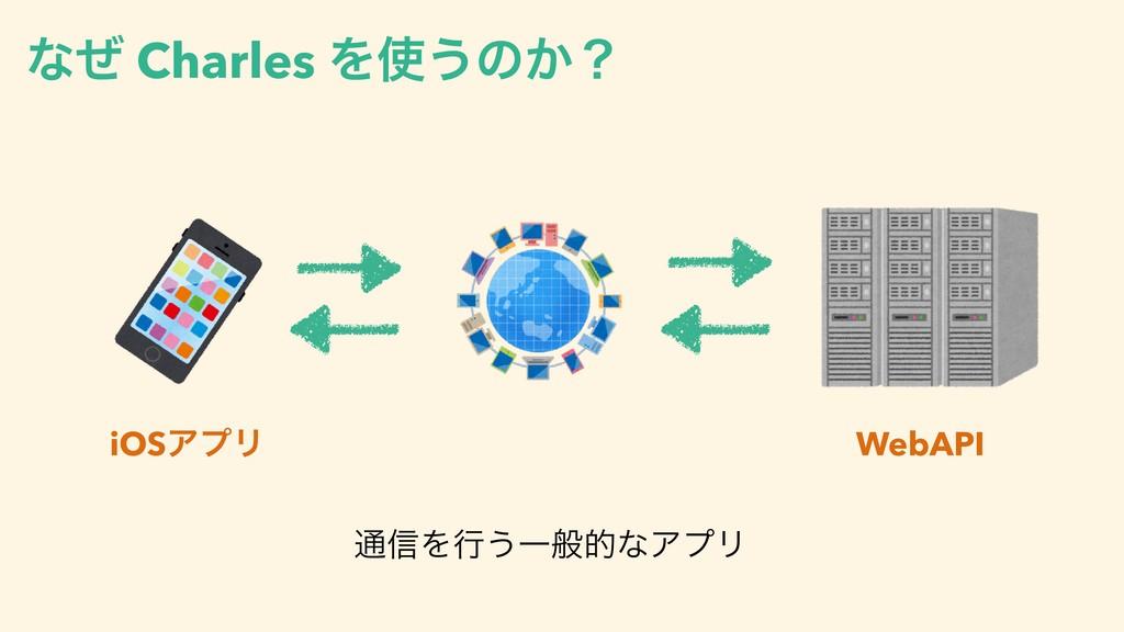 ͳͥ Charles Λ͏ͷ͔ʁ WebAPI iOSΞϓϦ ௨৴Λߦ͏ҰൠతͳΞϓϦ