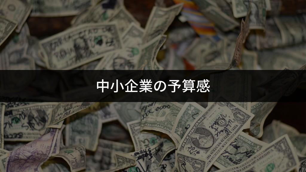 中⼩企業の予算感