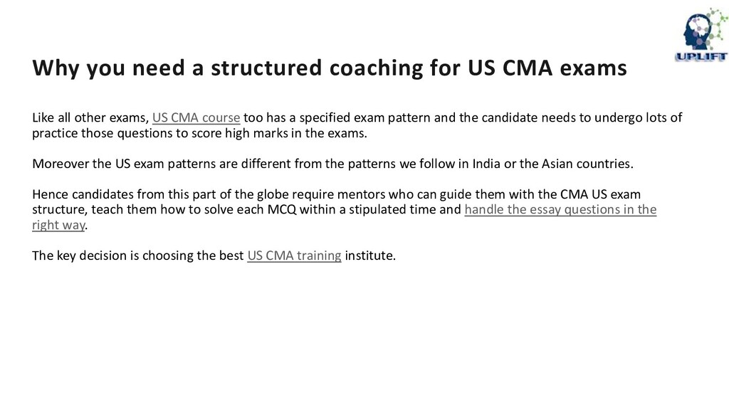 Why you need a structured coaching for US CMA e...