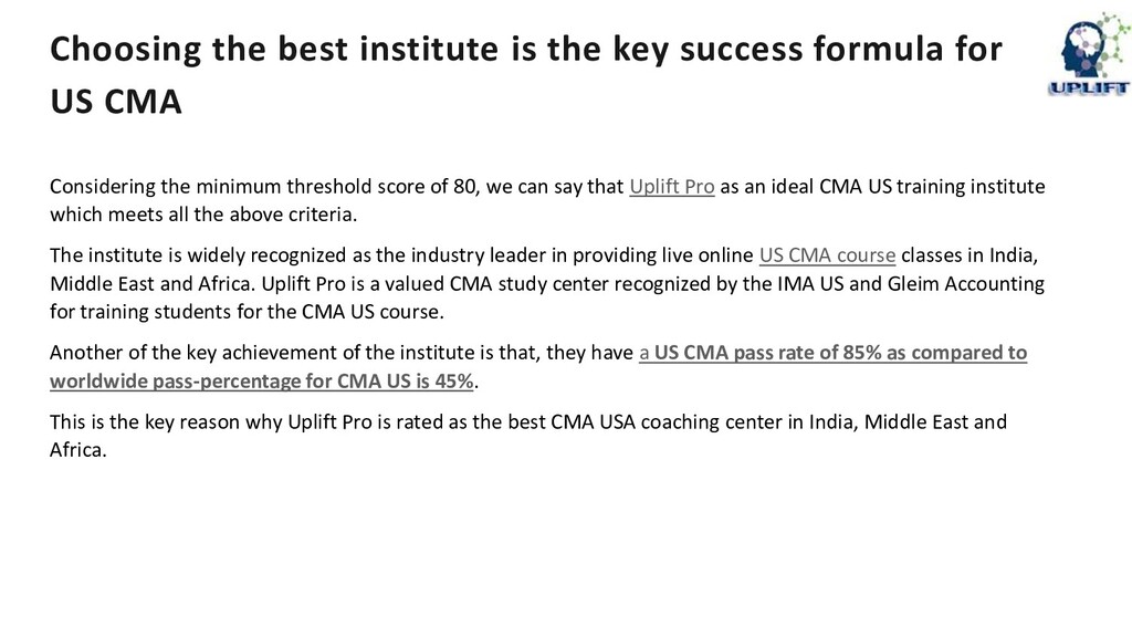 Choosing the best institute is the key success ...
