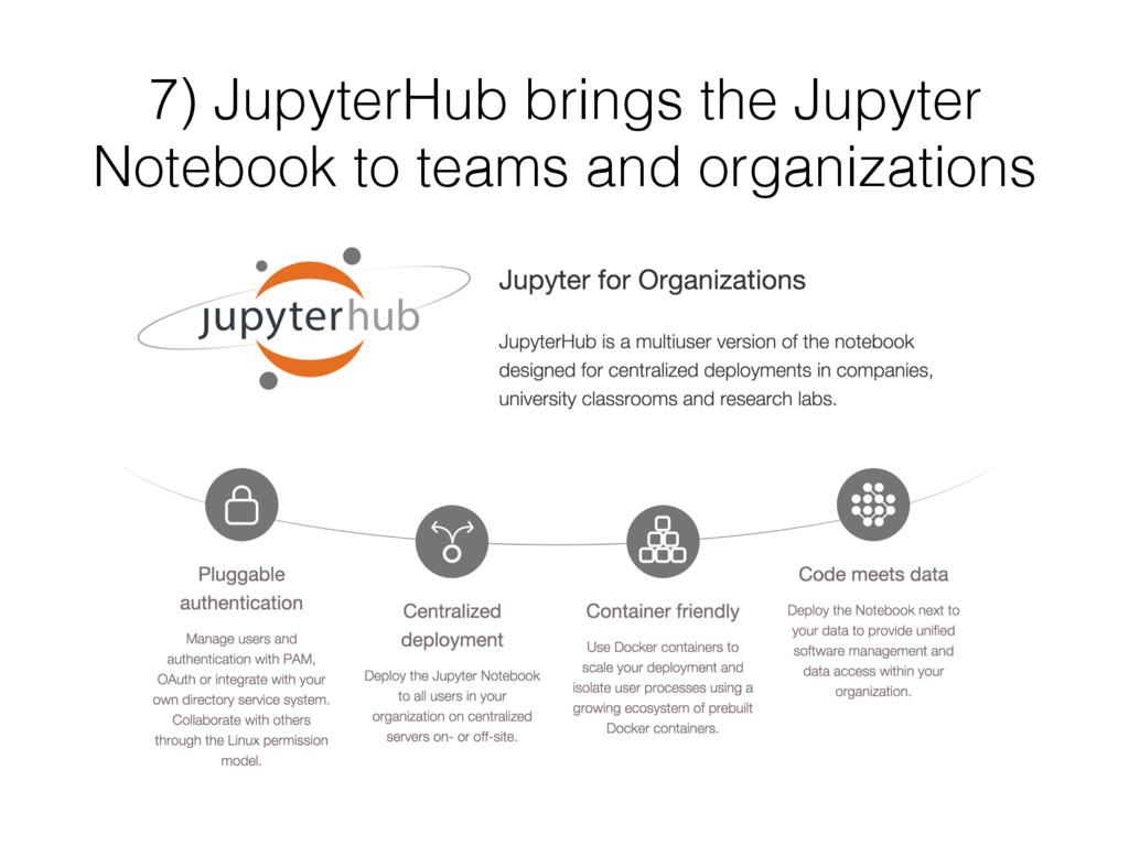 7) JupyterHub brings the Jupyter Notebook to te...