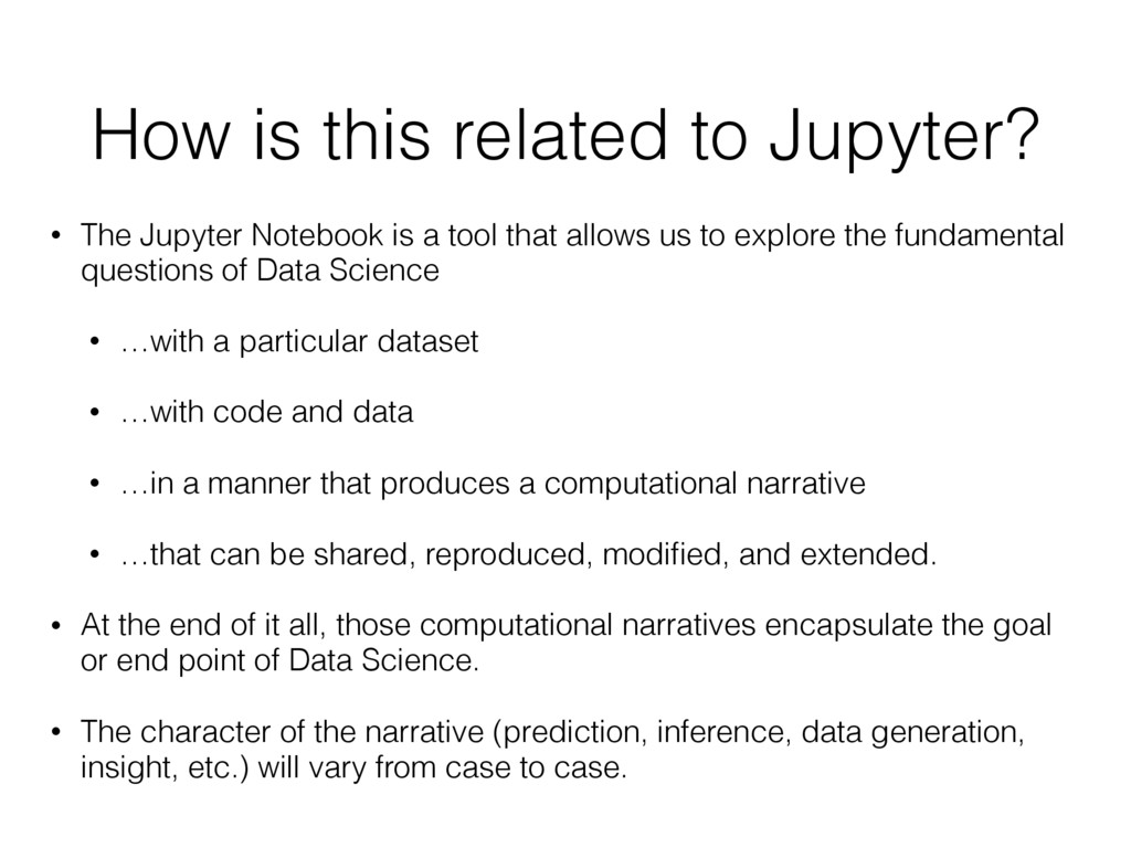 How is this related to Jupyter? • The Jupyter N...
