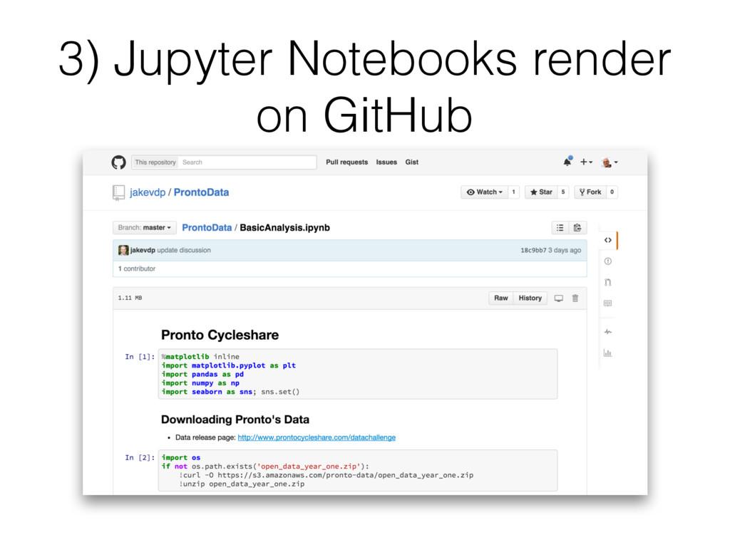 3) Jupyter Notebooks render on GitHub