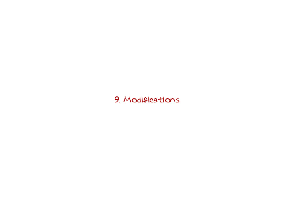 9. Modifications