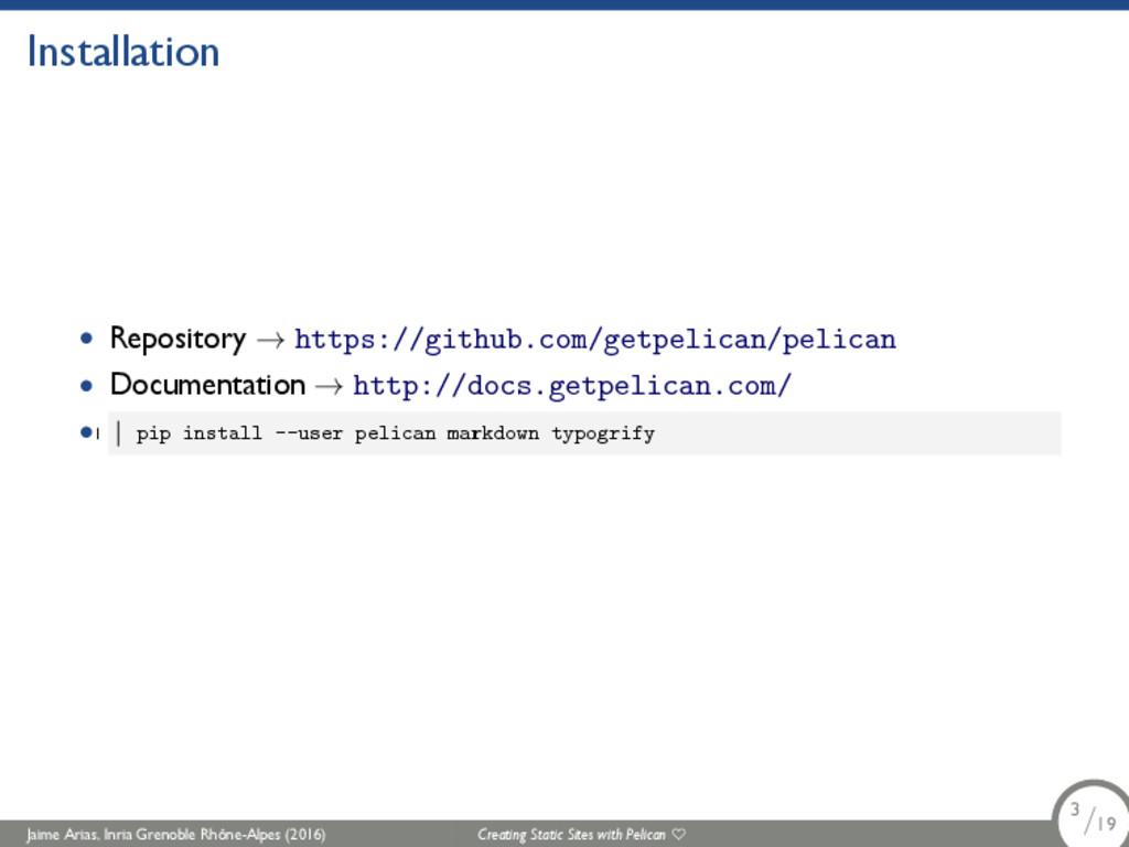 Installation • Repository → https://github.com/...