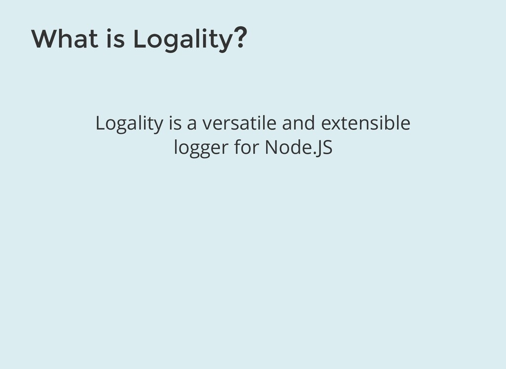 What is Logality? Logality is a versatile and e...