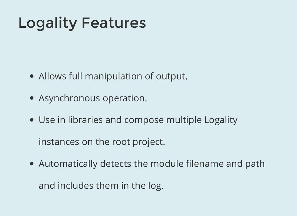 Logality Features Allows full manipulation of o...