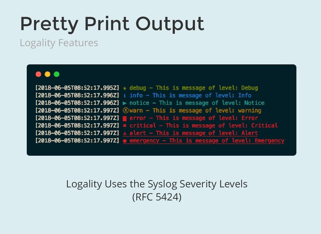 Pretty Print Output Logality Features Logality ...