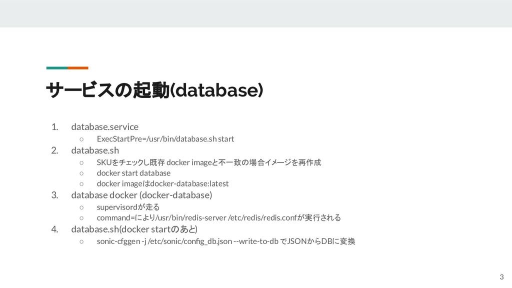 サービスの起動(database) 1. database.service ○ ExecSta...