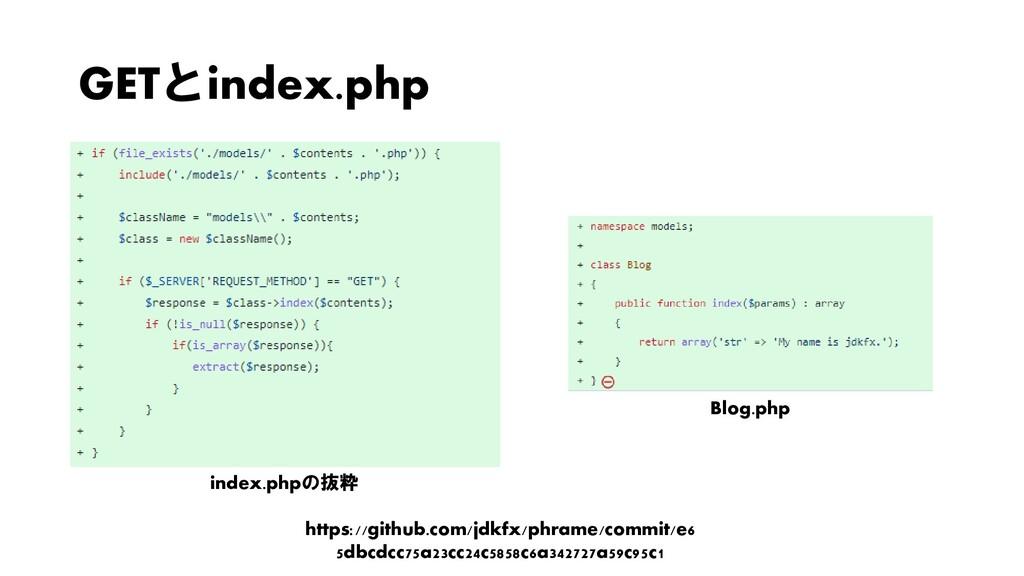 GETとindex.php index.phpの抜粋 Blog.php https://git...