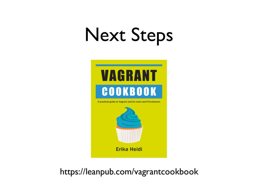 Next Steps https://leanpub.com/vagrantcookbook