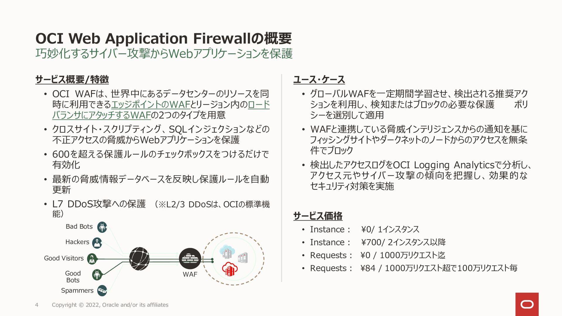 OCI WAF保護ルールの分類 4 Copyright © 2021, Oracle and/...